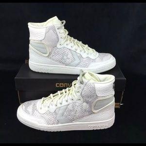 Converse Fastbreak Snake Skin Gray/White Sneakers